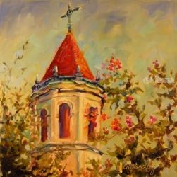 Awakening, Paintings, Fine Art,Impressionism, Architecture,Cityscape,Floral,Inspirational,Religious,Spiritual,Window on the World, Oil, By Chris Brandley