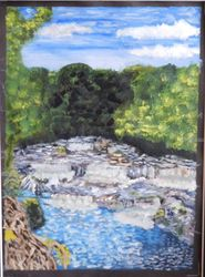 Aysgarth Falls Yorkshire, Land Art, Fine Art, Nature, Acrylic, By Michelle Archer