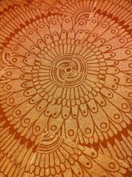 Aztek Sun, Carvings, Commercial Design, Decorative, Fiber, By Melanie Brummer
