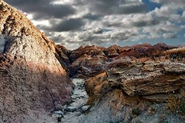 Badlands Clouds, Photography, Surrealism, Landscape, Metal, By Duane Klipping