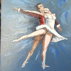 Bailarines, Paintings, Impressionism, Dance, Canvas, By Diego Catello
