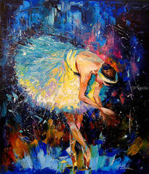 Ballerina, Paintings, Impressionism, Dance, Canvas,Oil,Painting, By Olha   Darchuk