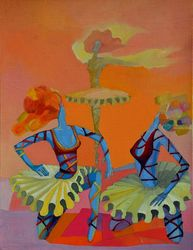 Ballerinas, Paintings, Expressionism,Impressionism, Figurative, Oil, By Vyara Tichkova