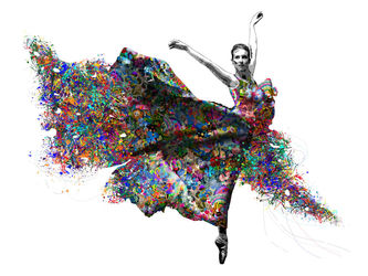 Ballet Dancer, Paintings, Impressionism, Dance, Mixed, By Angelo