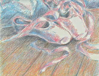 Ballet shoes, Drawings / Sketch, Impressionism, Dance, Pencil, By Tetyana K
