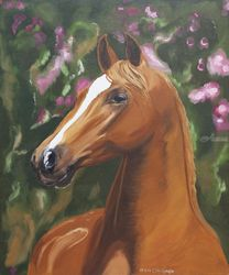 Beautiful horse portrait, Paintings, Realism, Animals, Oil, By Claudia Luethi alias Abdelghafar