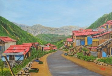 Landscape Sikkim III, Paintings, Realism, Landscape, Canvas, By Ajay Harit