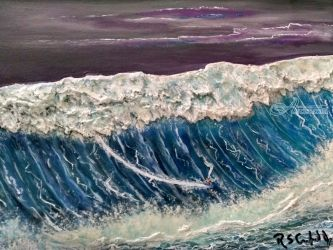 Big Kahuna, Paintings, Expressionism,Modernism, Seascape, Mixed, By Robert Crawford