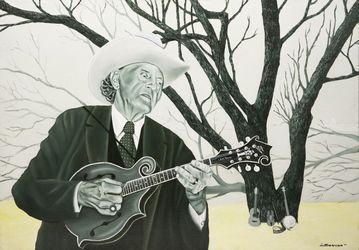 Bill Monroe, Paintings, Fine Art,Realism, Figurative,Inspirational,Music,Performance Art,Portrait, Canvas,Oil,Painting, By Rick Seguso