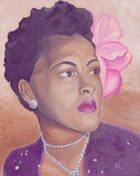 Billie Holiday, Paintings, Fine Art, Portrait, Oil, By Keith Lambert