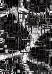 black and white installation, Digital Art / Computer Art, Abstract, Conceptual, Digital, By Nebojsa Strbac