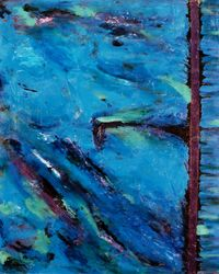 Blue, Paintings, Abstract, Narrative, Acrylic, By Rick Ruark