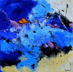 Blue cloud, Paintings, Abstract, Decorative, Canvas, By Pol Ledent