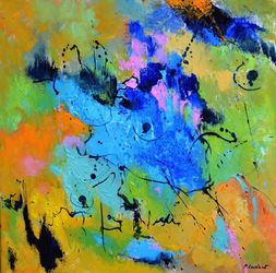 Blue eye, Paintings, Abstract, Decorative, Canvas, By Pol Ledent