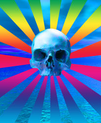 Blue ocean skull, Digital Art / Computer Art, Commercial Design,Modernism,Sensationalism,Symbolism, Fantasy, Digital, By Matthew Lacey