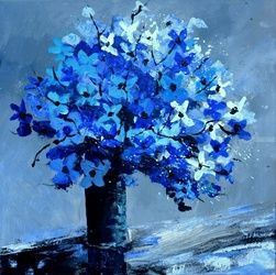 Blue still life, Paintings, Impressionism, Decorative, Canvas, By Pol Ledent