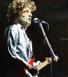 Bob Dylan, Paintings, Fine Art,Realism, Figurative,Music,Portrait, Canvas, By Rick Seguso