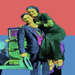 Bonnie and Clyde Pop Art, Digital Art / Computer Art, Commercial Design,Modernism,Pop Art, Cartoon,Fantasy,Figurative,People, Digital, By Matthew Lacey