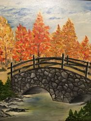 Breath of fall, Paintings, Fine Art, Landscape, Canvas, By Lubov Pavluk