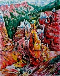 Bryce Canyon. 1, Paintings, Expressionism, Landscape, Acrylic,Canvas, By Victor Ovsyannikov
