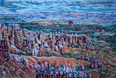 Bryce Canyon 2, Paintings, Expressionism, Landscape, Acrylic, By Victor Ovsyannikov