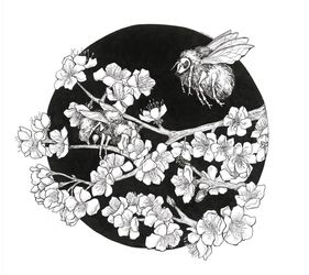Bumblebee, Decorative Arts,Drawings / Sketch,Paper Art, Fine Art,Symbolism, Animals,Decorative,Nature,Wildlife, Ink, By Misia Slemp