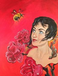 Bumblebee(acrylic on canvas), Paintings, Expressionism, Fantasy, Acrylic, By Victoria Trok