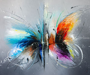 Buterflies date, Paintings, Abstract, Animals,Composition, Painting, By Liubov Kuptsova