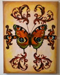 Butterfly #1, Collage, Abstract, Decorative, Mixed, By Lucyanne Terni