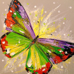 Butterfly, Paintings, Impressionism, Animals,Botanical,Nature, Canvas,Oil,Painting, By Olha   Darchuk