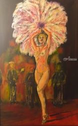 Cabaret, Drawings / Sketch, Impressionism, Performance Art, Oil,Painting, By Charles Freeman