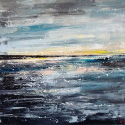 Calmness, Paintings, Abstract, Decorative,Seascape, Oil, By Liubov Kuptsova