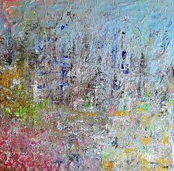 Campotosto Lake (n.385), Paintings, Abstract, Landscape, Acrylic, By Alessio Mazzarulli