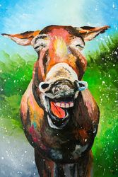 Can animals smile?, Paintings, Impressionism,Satire, Animals, Canvas,Oil, By Liubov Kuptsova