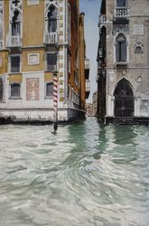 Canals, Paintings, Fine Art, Cityscape, Watercolor, By James Cassel