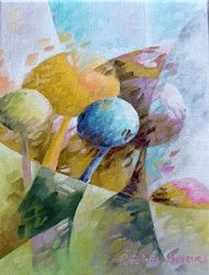 Candies 050, Paintings, Abstract,Fauvism,Fine Art, Landscape,Nature,Tropical, Canvas,Oil, By Beatrice BEDEUR