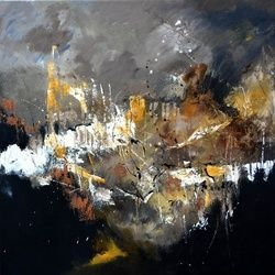 candles 8871, Paintings, Abstract, Decorative, Canvas, By Pol Ledent