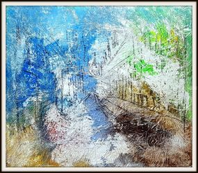 Capri (n.438), Paintings, Abstract, Cityscape,Landscape, Acrylic, By Alessio Mazzarulli
