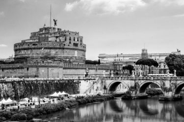 Castel Sant'Angelo, Architecture,Decorative Arts,Digital Art / Computer Art,Paper Art,Photography,Poster,Printmaking, Fine Art,Photorealism,Realism, Architecture,Cityscape,Documentary,Historical,Memorial,Window on the World, Photography: Metal Print,Photography: Photographic Print,Photography: Premium Print,Photography: Stretched Canvas Print, By Ira Silence