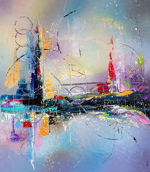 Caught in a dream, Paintings, Abstract, Composition,Decorative,Landscape, Canvas, By Liubov Kuptsova