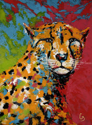 Cheetah, Paintings, Pop Art,Realism, Animals, Acrylic, By Craig Granato