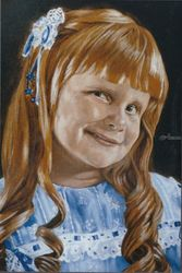 Christina, Paintings, Realism, Portrait, Oil, By James Cassel