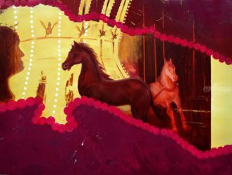 Circus, Paintings, Surrealism, Animals, Canvas,Oil, By Sergey Lutsenko