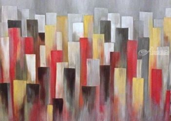 Cityscape, Paintings, Abstract, Cityscape, Acrylic, By Judith Cahill