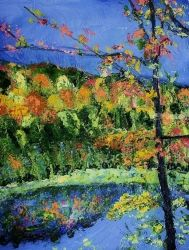 Clark Reservation #8, Paintings, Impressionism, Land Art, Painting, By Jim Relyea
