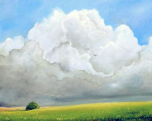 Clouds On The Horizon, Paintings, Impressionism, Landscape, Oil, By Alicia Maury