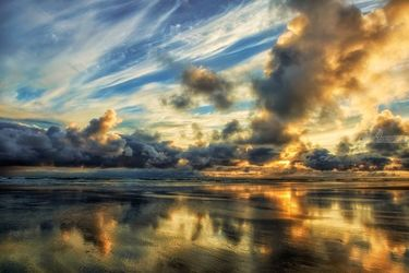Cloudy Horizon, Photography, Fine Art,Photorealism, Landscape,Nature, Photography: Premium Print, By Mike DeCesare