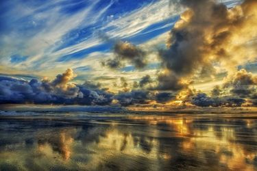 Cloudy Horizon, Photography, Photorealism, Landscape, Photography: Premium Print, By Mike DeCesare