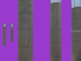 Columns, Collage, Abstract, Composition, Digital, By Julie Hermoso