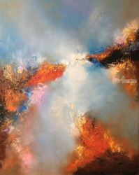 Connection, Paintings, Abstract, Fantasy, Oil, By Miroslava Friedman